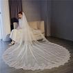 Accessori da sposa velo lungo in tulle con bordo in pizzo 3M