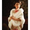 Scialle da sposa Bianco Inverno Senza Maniche Corpo a rettangolo Spessore