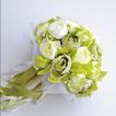 Camelia bianca verde coreano sposa simulazione fiori per il matrimonio in mano