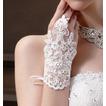 Guanti da sposa Breve Decorazione Colorato Bianco Pizzo Perline