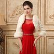 Scialle da sposa Maniche Lunghe Spessore Campana Caldo Semplici Abbigliamento pellicce