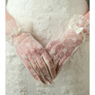 Guanti da sposa Pizzo Decorazione Breve Avorio Pieno finger Traslucido