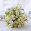 Fiori di tè verde e bianco a mano bouquet spose coreano sposate simulazione