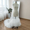 Mantello da sposa in tulle da sposa Mantello scialle da sposa lungo 200 cm
