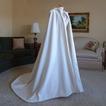 200CM scialle sposa mantello raso scialle con cappuccio bianco