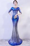 Abito da ballo Sirena Bateau Naturale paillettes trendiness Corpetto con paillettes