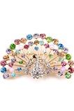 Diamanti di pavone intarsiato retro animale lega spilla