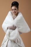 Scialle da sposa all'aperto Bianco Lungo Inverno Grandi piazze Senza Maniche