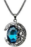 Prodotto nuovo donne collana cristallo lega gioielli retrò & pendente della collana