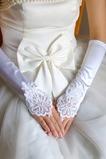 Guanti da sposa Raso elastico All Aperto Lungo Appropriato Applique