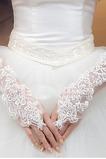 Guanti da sposa Primavera tessuto Romantici Bianco Sottile Ombra