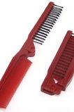 Grano rosso pieghevole multifunzione portatile piccolo specchio & pettine di legno