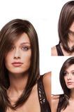 Parrucchino Lungo rettilineo 40-45 CM Adatto per le donne lungo rettilineo