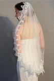 Singolo strato con pettine per capelli velo velo di pizzo solubile in acqua accessori abito da sposa velo