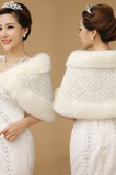 Scialle da sposa Caldo Appropriato Medium Long Bianco Eleganti Bottone