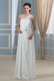 Abito da sposa Rosette Ornamento Chiffon Cerniera Senza Maniche alta vita/cintola