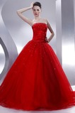 Abito da ballo Senza Maniche Rosso Principessa Stellato Tulle Mezza Coperta