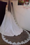 Velo da sposa in pizzo Lungo Primavera Pizzo Bianco Lungo