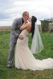 Velo da sposa Con il pettine Primavera Bianco Lungo Breve