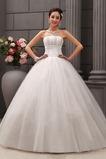 Abito da sposa Senza Maniche Tulle Perline Formale Ball Gown Naturale