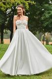 Abito da sposa Rosette Ornamento A-Line Vintage senza spalline Raso