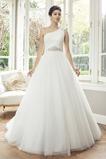 Abito da sposa Cinghia in rilievo Ball Gown monospalla Cristino Maniche Corte