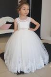 Abito cerimonia bambina Piccola t Tulle Festoni Naturale A-Line Tipo standard