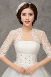 Scialle da sposa moda Applique Ombra Giacca Bianco Pizzo francese