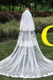 Velo da sposa Lungo Coda lunga Lungo Classe Multi Strati Bianco