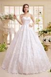 Abito da sposa Pizzo Primavera Allacciato Fusciacche Ball Gown Eleganti