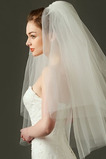 Abito da sposa velo semplice velo da sposa corto in rete rigida