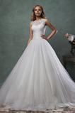 Abito da sposa Tulle Naturale All Aperto Lupetto Ball Gown Lungo