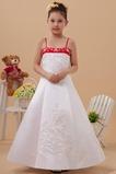 Abito cerimonia bambina Magro Perline Semplici Mezza Coperta Naturale 14 Anno vecchio