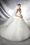 Abito da sposa Primavera Formale Tulle Applique Con Velo Mezza Coperta