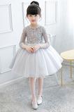 Abito cerimonia bambina Naturale Quanto Non Specificato Maniche a 3/4 Farfalla Ornamento