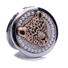 Diamante intarsiato cerchio compleanno matrimonio metallo pieghevole piccolo ornamento