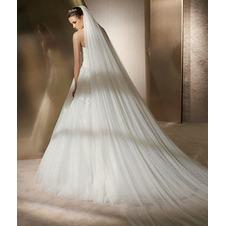 La sposa abito da sposa velo morbido filato lungo 3 metri e veli morbidi a doppio strato