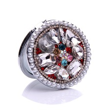 Lussuoso cerchio intarsiato di diamanti pieghevole fumetto piccolo ornamento