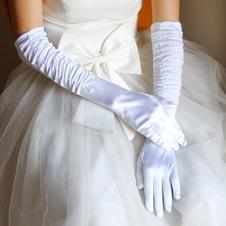 Guanti da sposa Spessore Classe Taffeta Bianco treccia Pieno finger