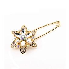 Diamante intarsiato di moda cristallo lega donne corpetto spilla