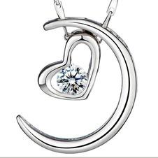 Argento a forma di cuore di placcatura decorazione Hot vendita collana pendente