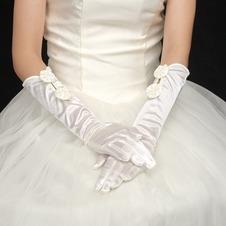 Guanti da sposa Pieno finger Caldo Sottile Chiesa Avorio Primavera