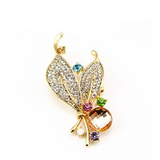 Commercio all'ingrosso donne intarsiato di stile di diamante nuovo cristallo Pin spilla
