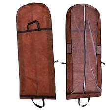 Marrone a duplice uso portatile dress antipolvere pieghevole vestito parapolvere con parole