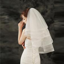 Breve velo gonfio economici semplici accessori da sposa velo