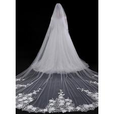 Velo da sposa coda velo da fiore squisito velo da coda lunga 400 cm