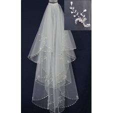 Velo da sposa bordo tornito Bianco Lungo Breve moda Primavera