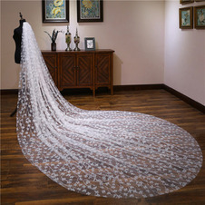 Velo di paillettes velo da sposa cattedrale coda velo scintillante di lusso 3M