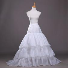 Da sposa sottoveste Lungo Taffetà di poliestere Finali Tre cerchi Alla moda