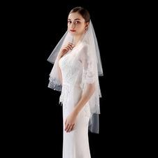 Nuovo velo da sposa foto velo velo corto strato con velo pettine semplice velo